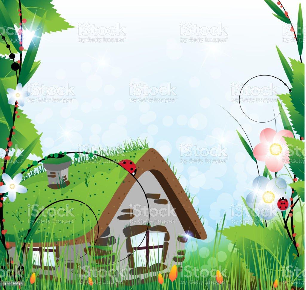 Fairy house vector art illustration