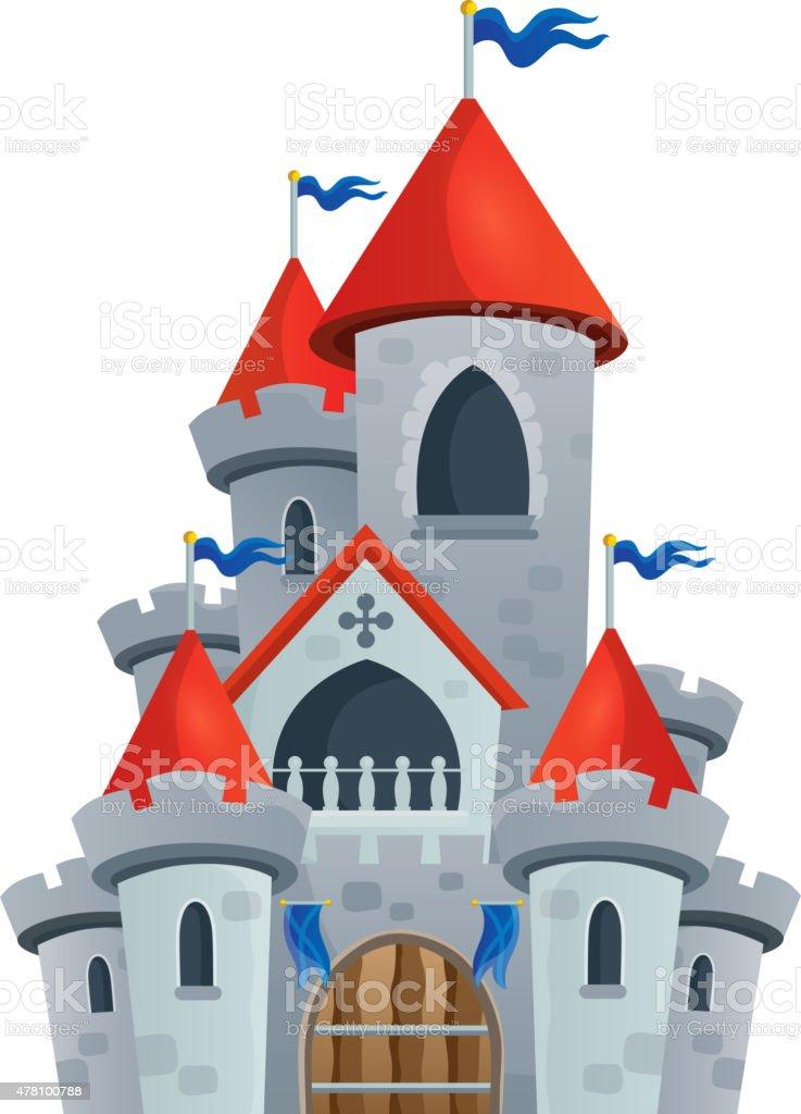 Fairy tale castle theme image 1 vector art illustration