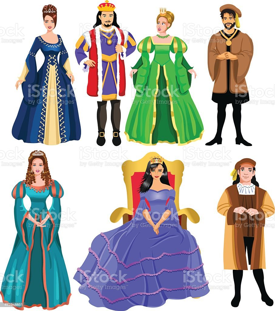 fairy tale characters vector art illustration