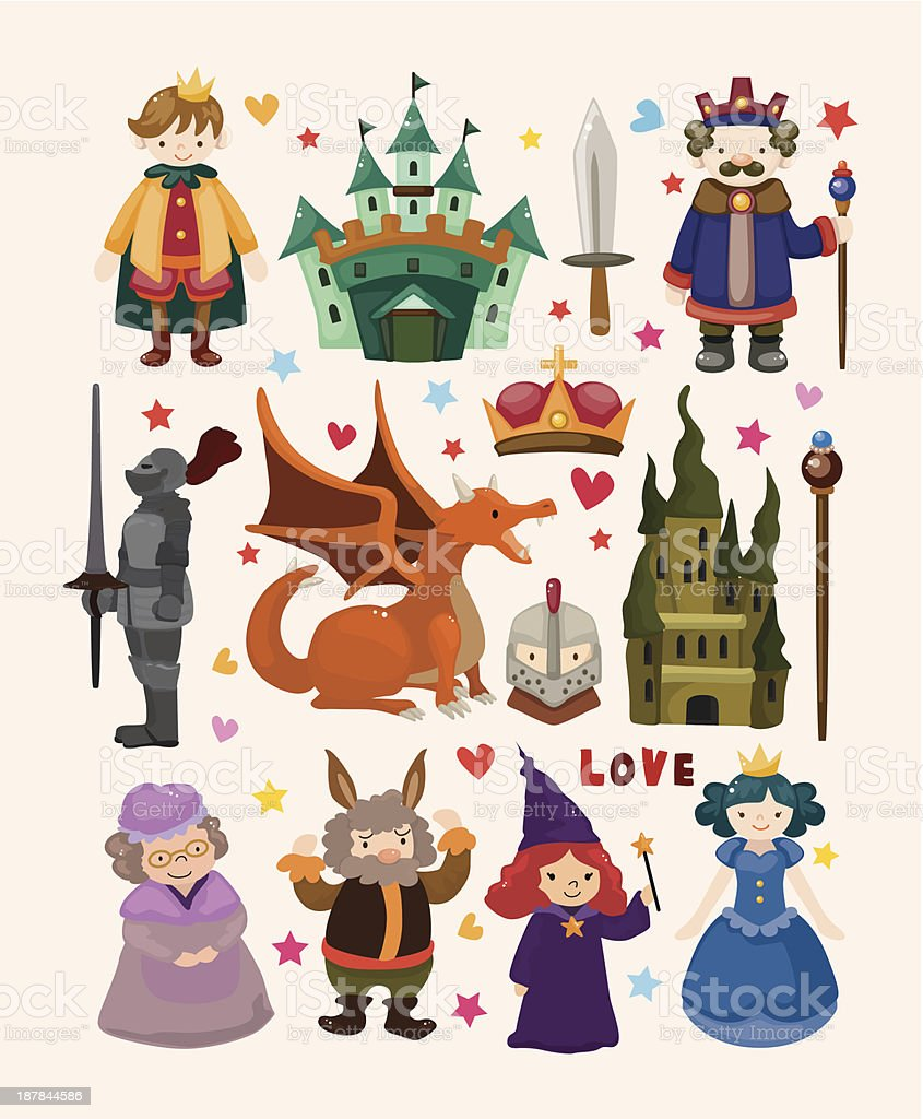 Fairy tale icons royalty-free stock vector art