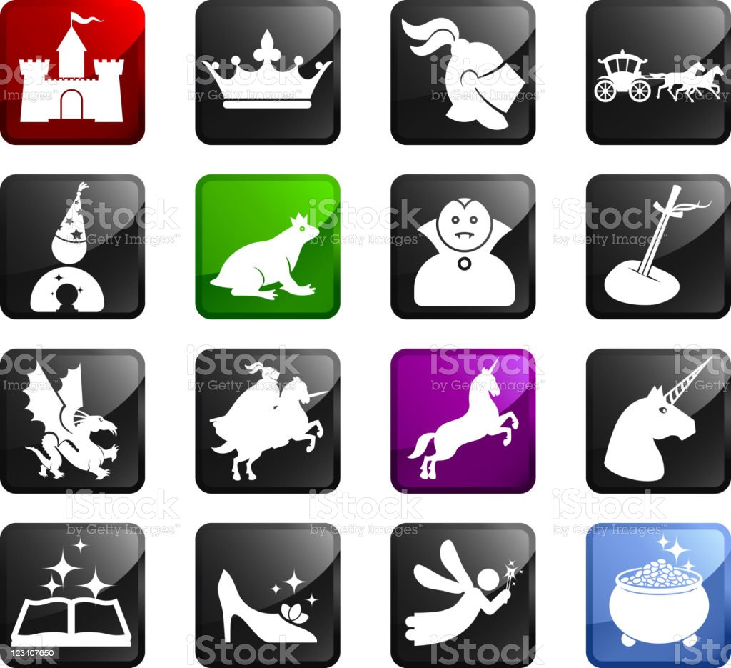 Fairy tale royalty free icons royalty-free stock vector art