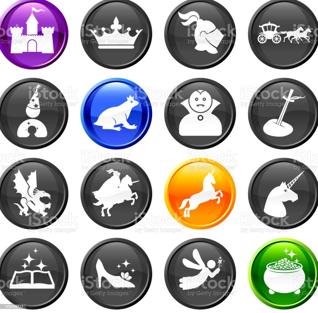 Fairy tale royalty free vector icon set royalty-free stock vector art