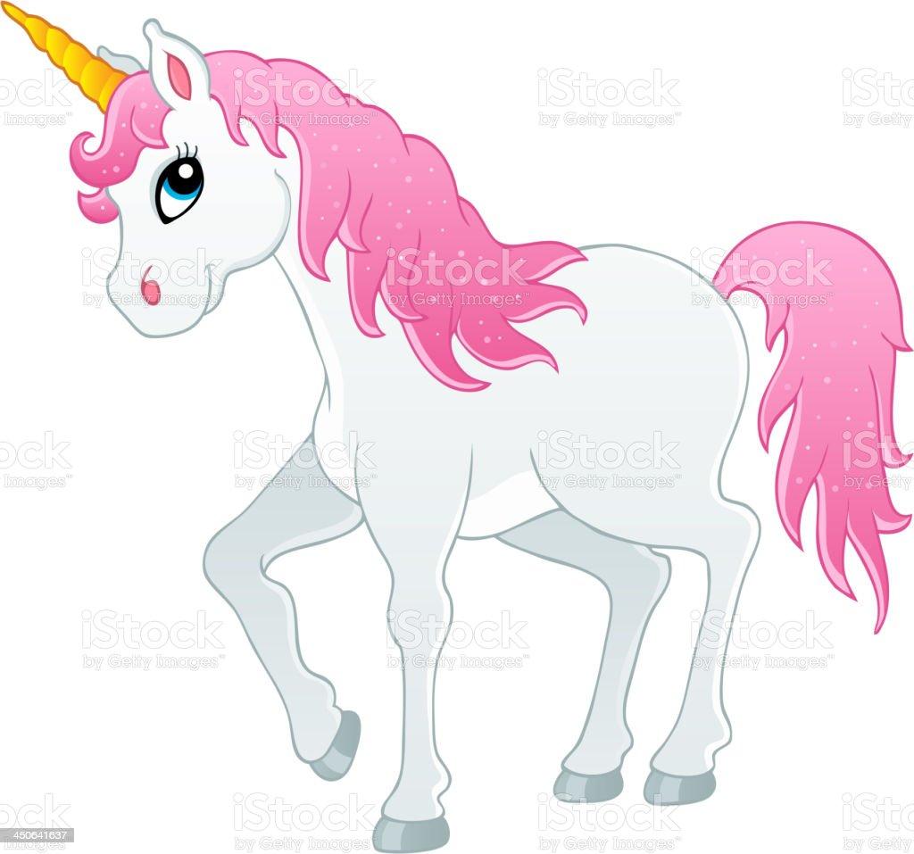 Fairy tale unicorn theme image 1 vector art illustration