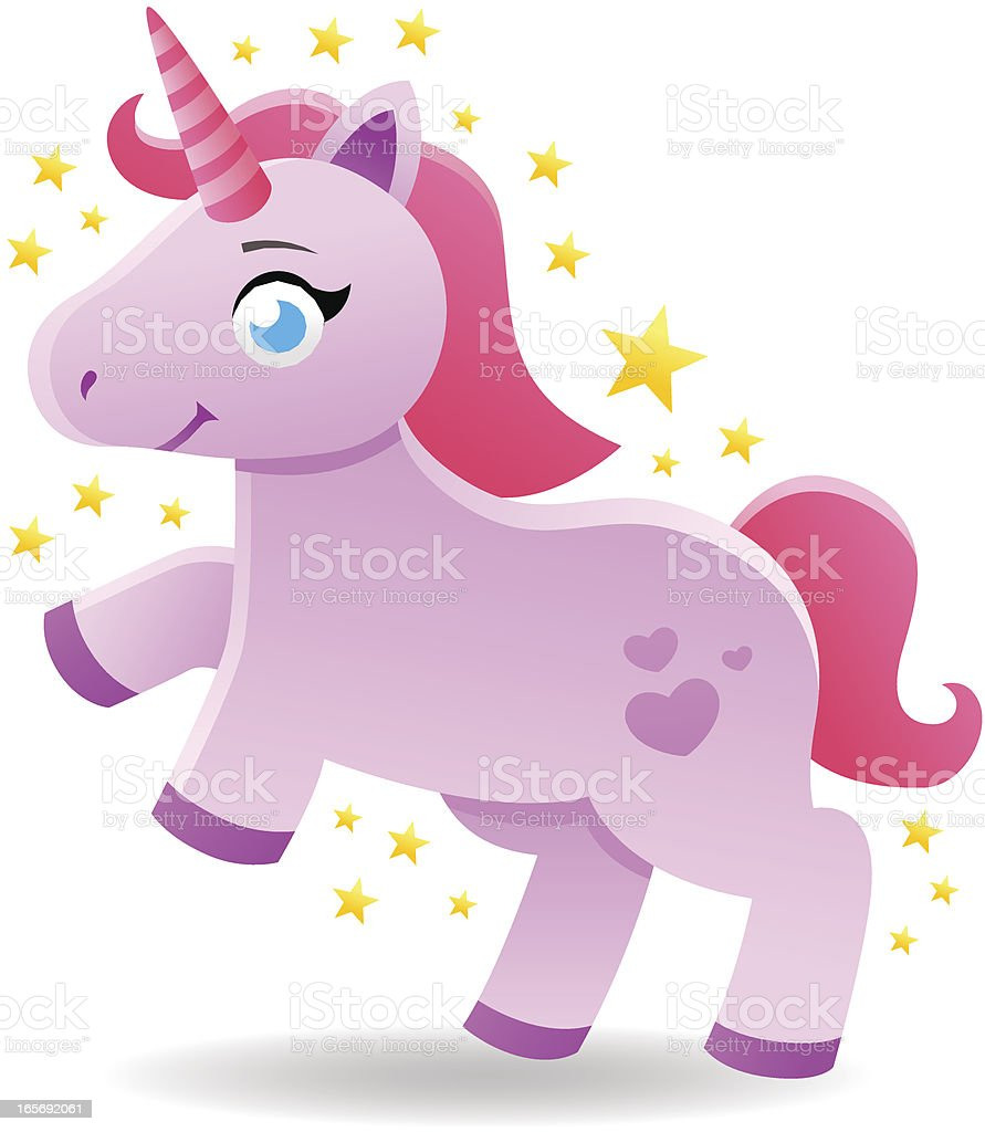 Fairy Tale Unicorn vector art illustration