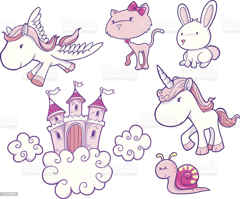 Fairy Tale Vector Elements royalty-free stock vector art