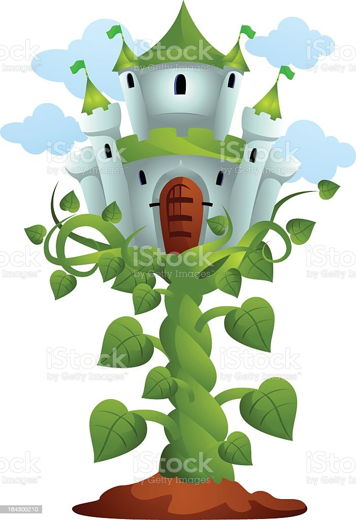 Fairytale Castle Sitting On Top Of Jacks Beanstalk stock vector ...