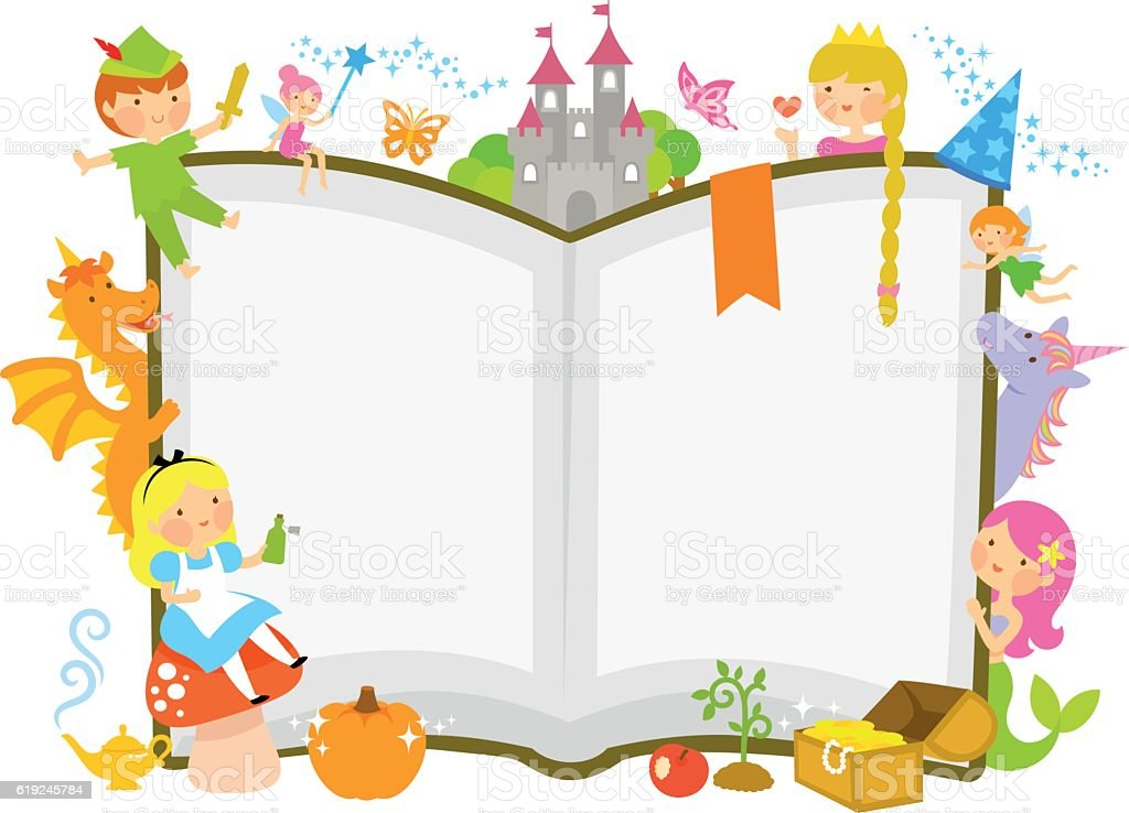 fairytale characters vector art illustration
