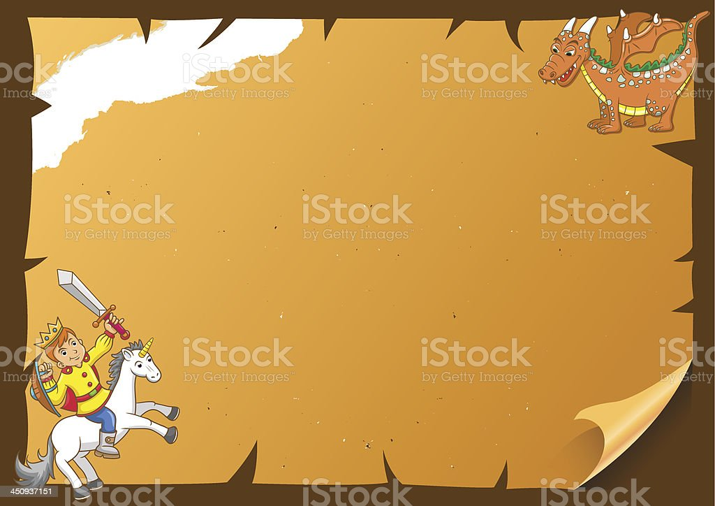 fairytale paper frame royalty-free stock vector art