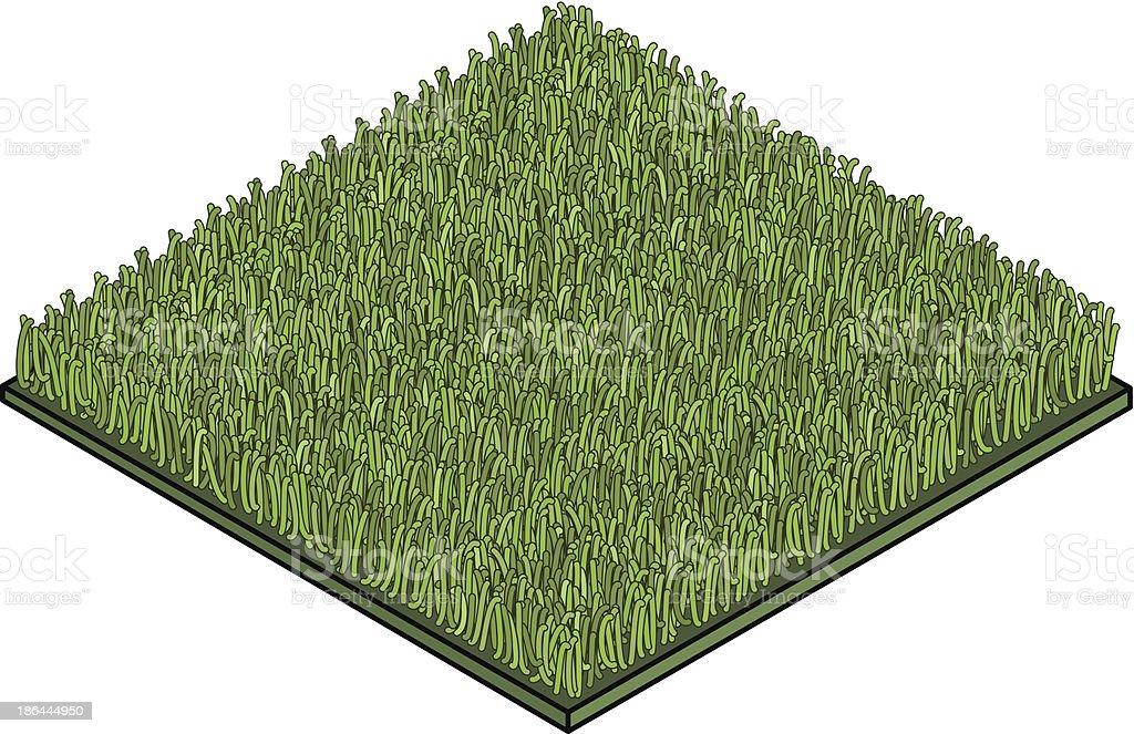 Fake Grass vector art illustration