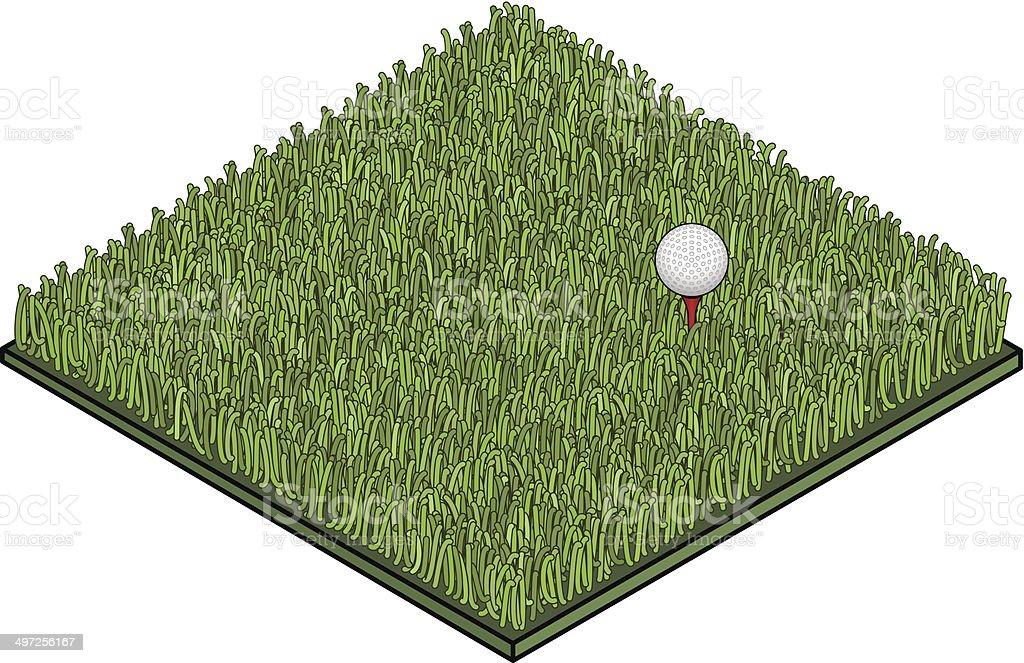 Fake Lawn Golf Ball vector art illustration
