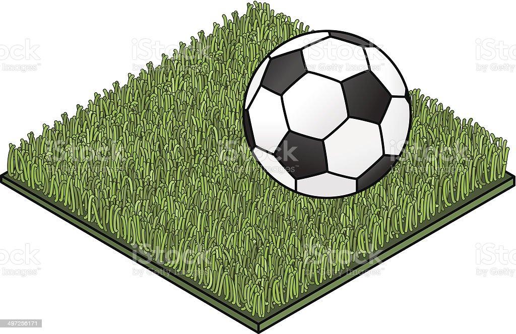 Fake Lawn Soccer vector art illustration