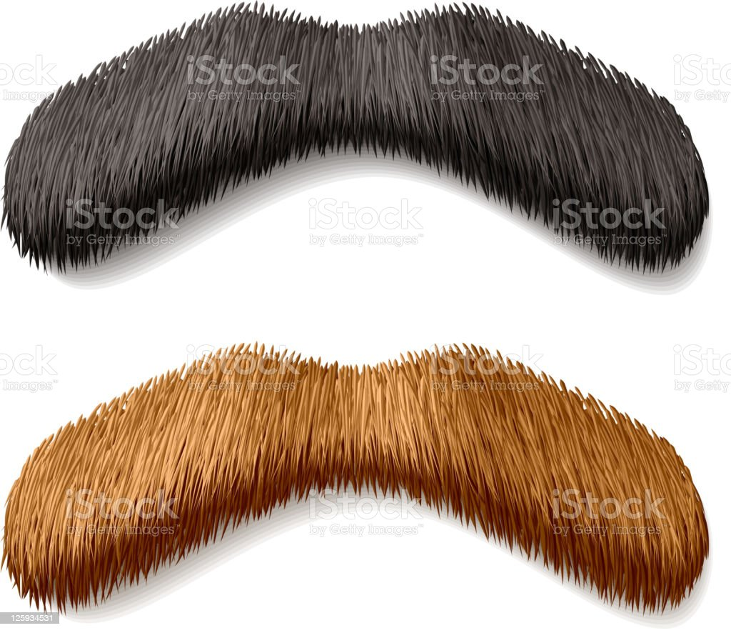 Fake mustaches royalty-free stock vector art