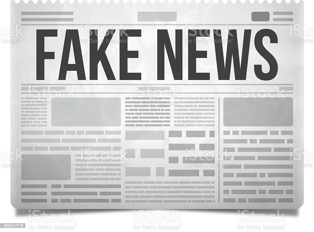 Fake News Newspaper vector art illustration