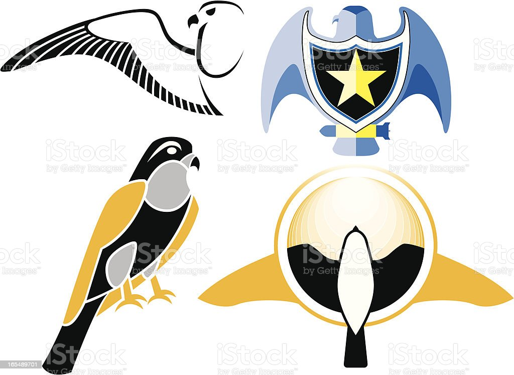 Falcon logo royalty-free stock vector art