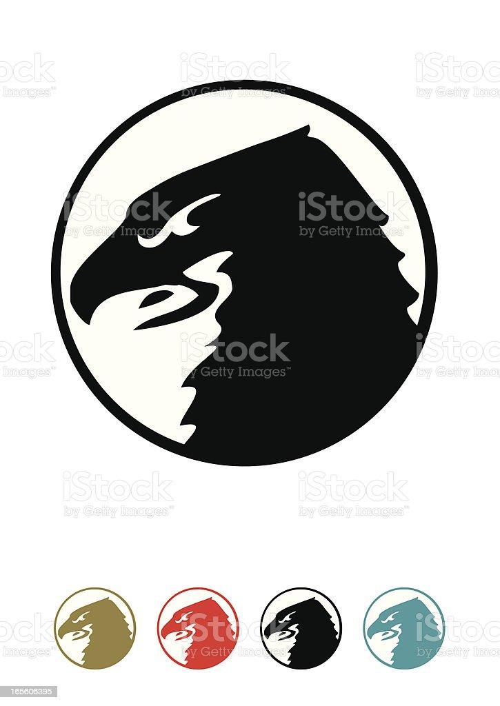falcon symbol royalty-free stock vector art