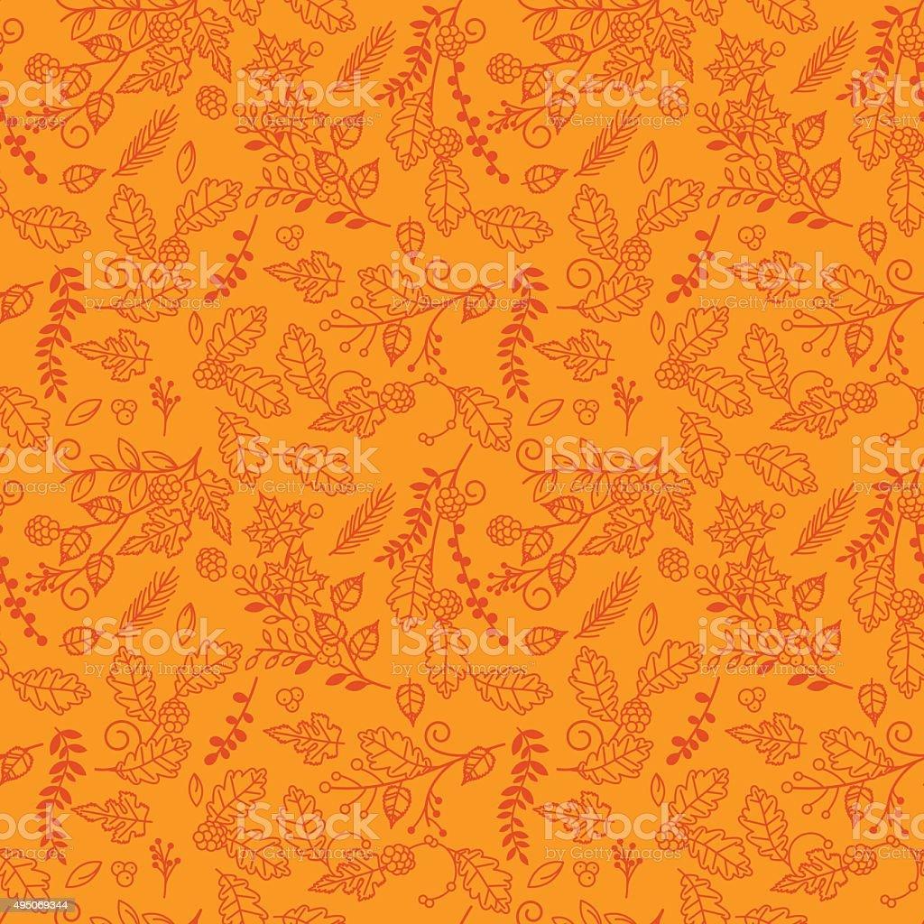 Fall, Autumn or Thanksgiving Vector Flower Pattern vector art illustration