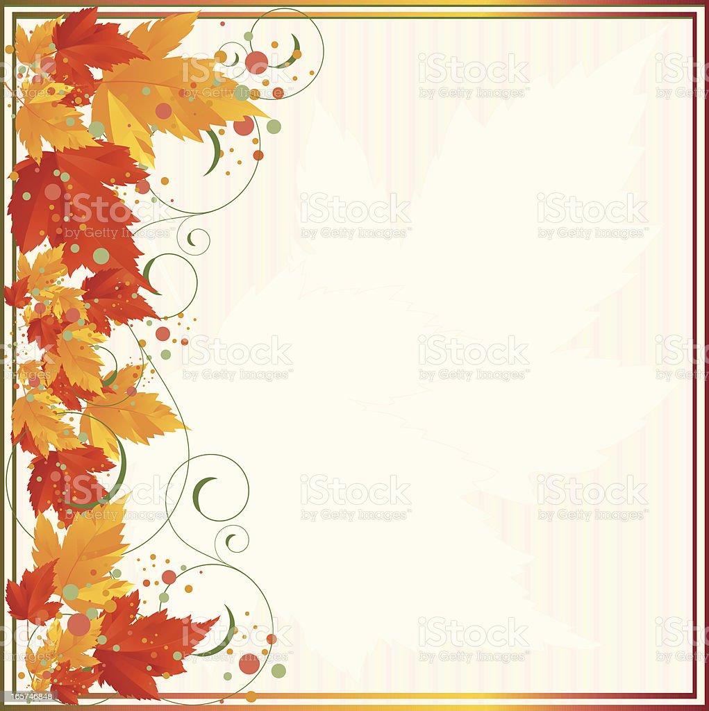 Herbst, Herbst vertikale Blätter-Design-Element, Frame Hintergrund Lizenzfreies vektor illustration