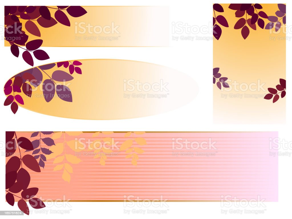 Fall Banners vector art illustration