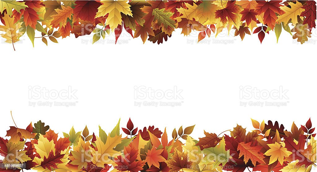 Fall Border vector art illustration