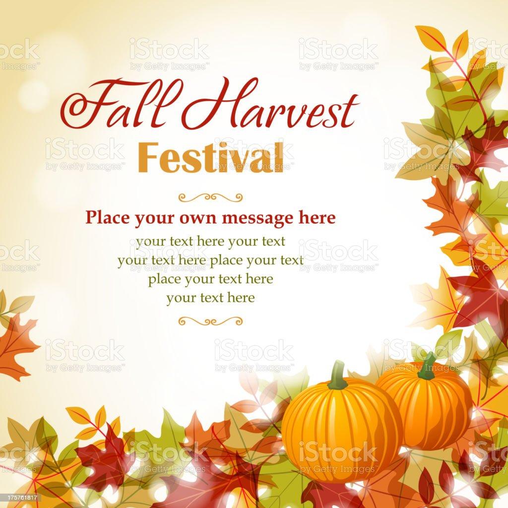 Fall Fest vector art illustration