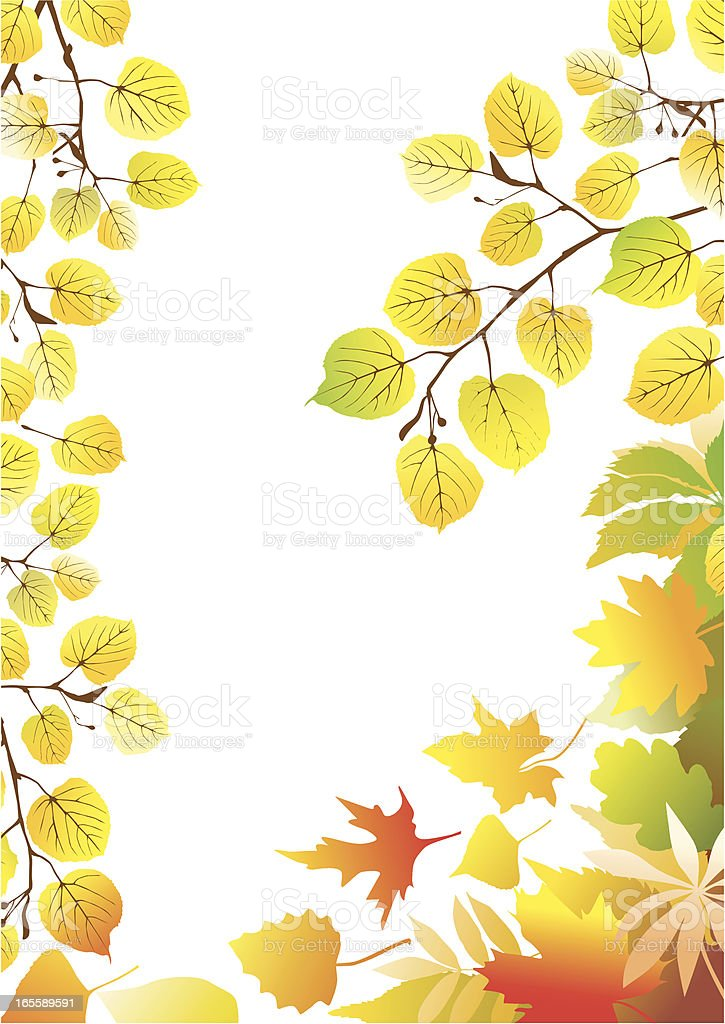Fall frame royalty-free stock vector art