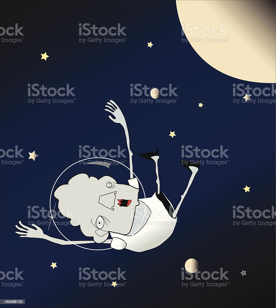 Fall from space. royalty-free stock vector art