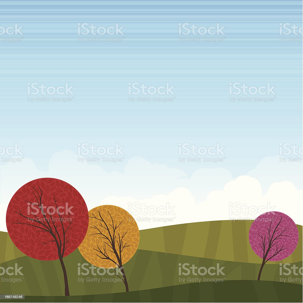 Fall Landscape Background royalty-free stock vector art