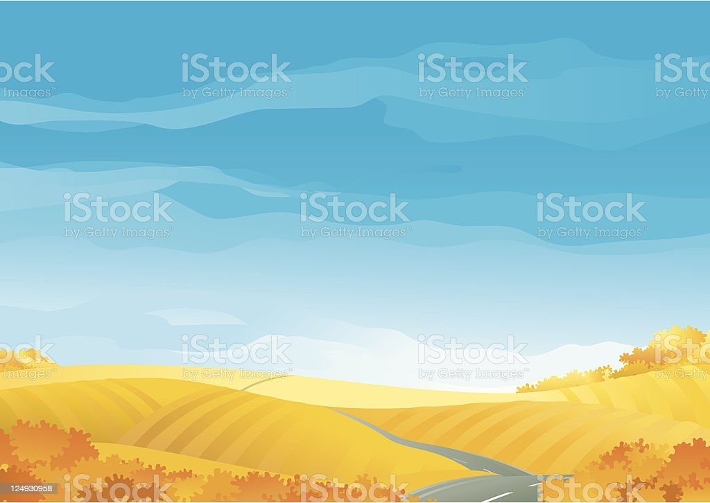 Fall landscape royalty-free stock vector art