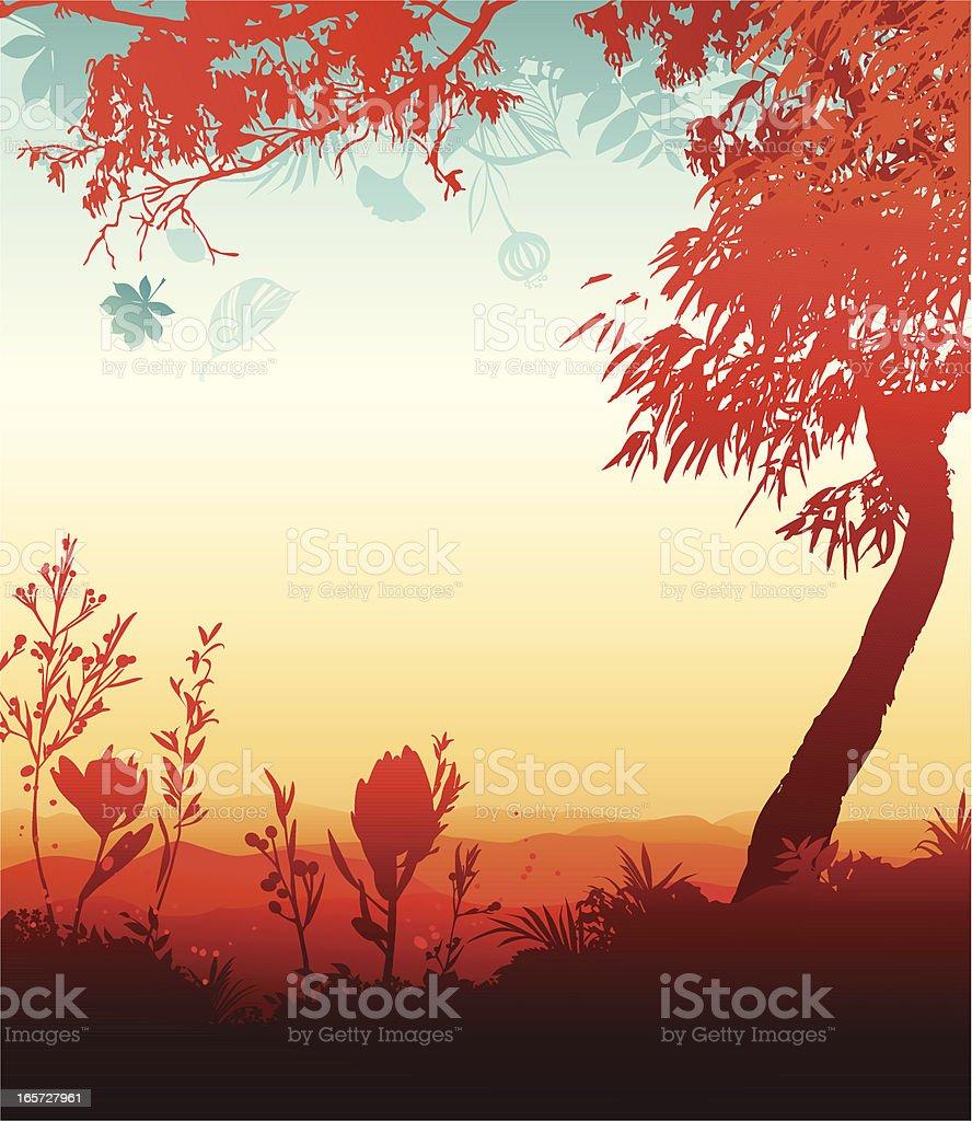 Fall landscape royalty-free stock vector art