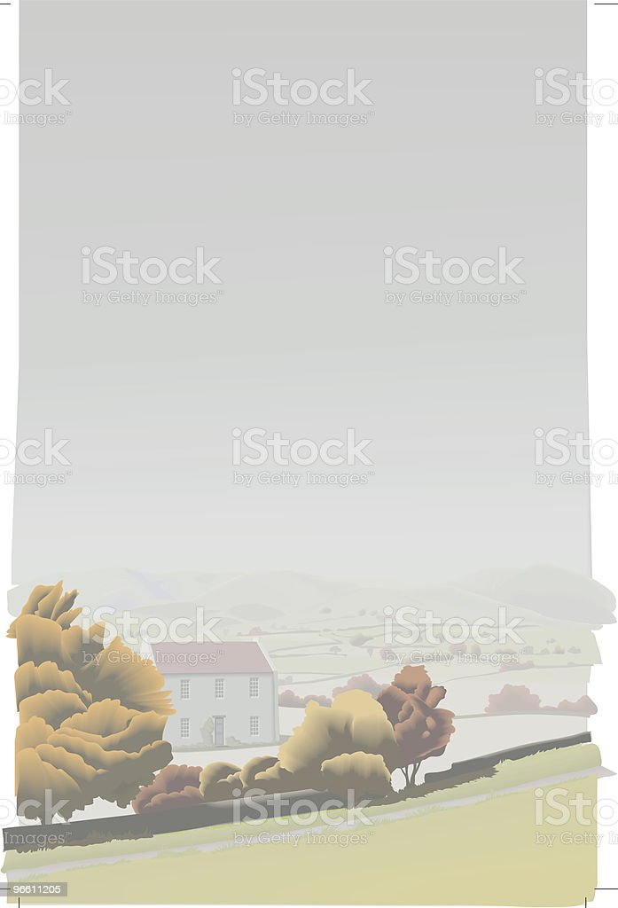 Fall landscape - vector royalty-free stock vector art