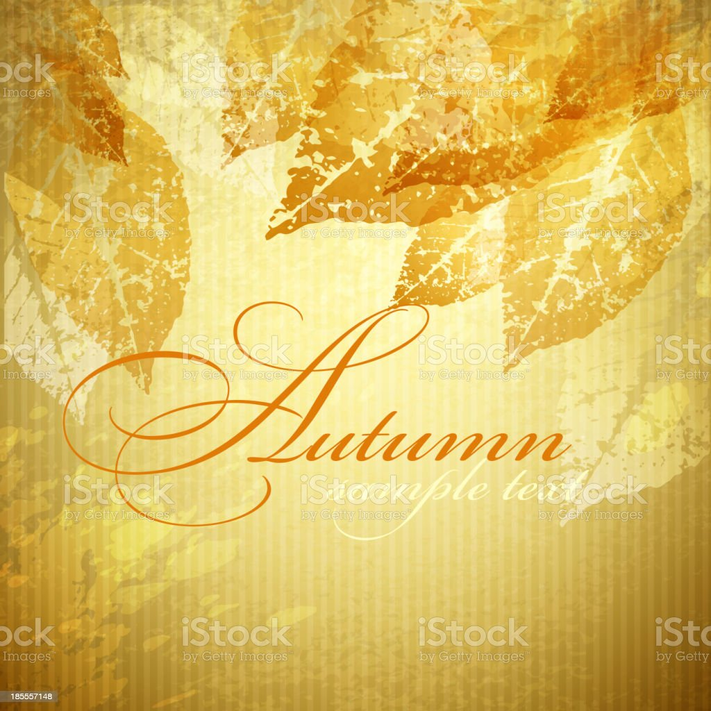 Fall Leaf Background royalty-free stock vector art