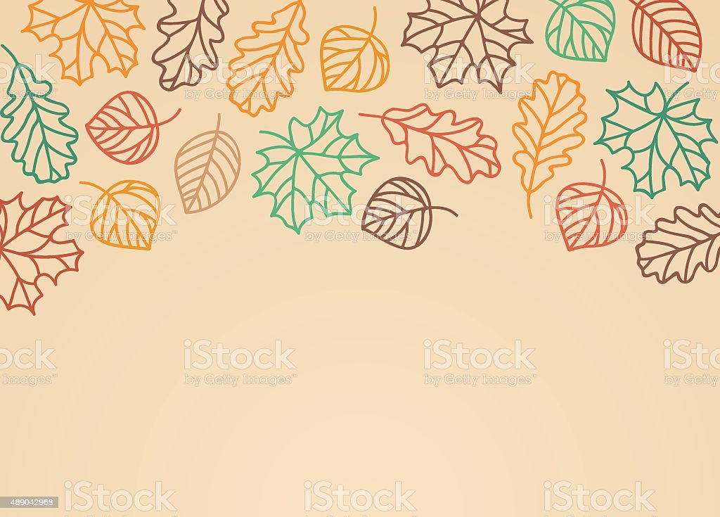 Fall Leaves Background vector art illustration
