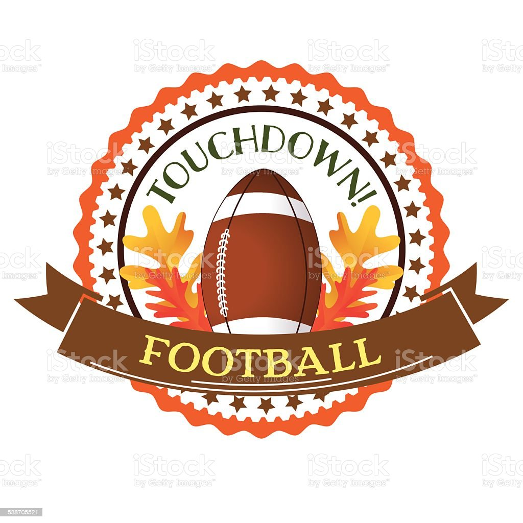 Fall Leaves Football Border Banner Design Element vector art illustration
