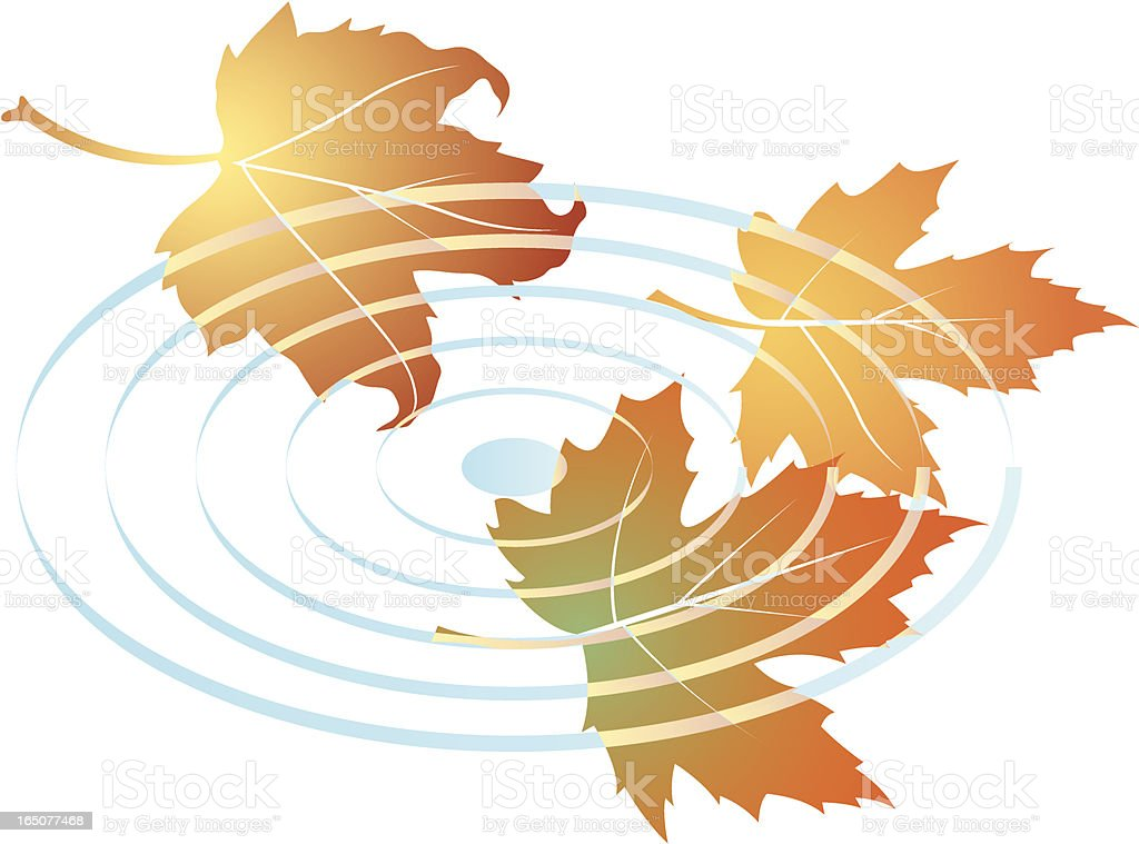 Fall leaves two royalty-free stock vector art