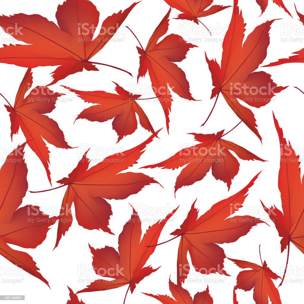Fall maple leaves seamless background. royalty-free stock vector art