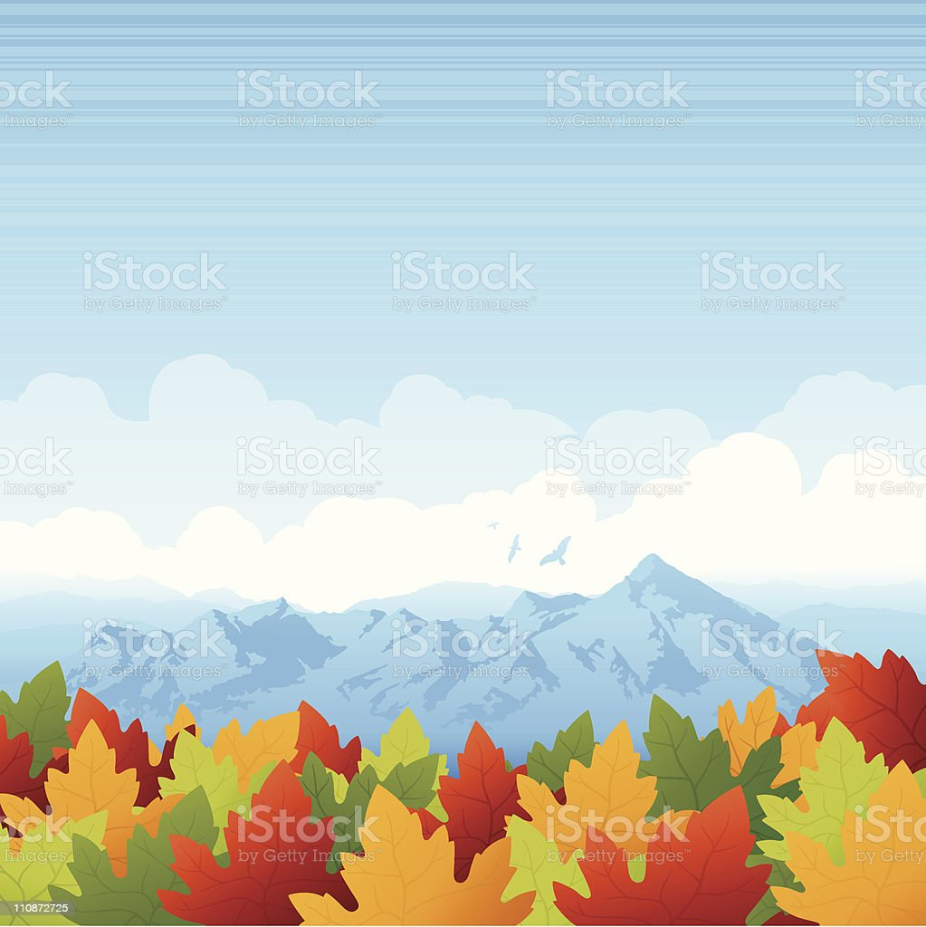 Fall Mountain Background royalty-free stock vector art