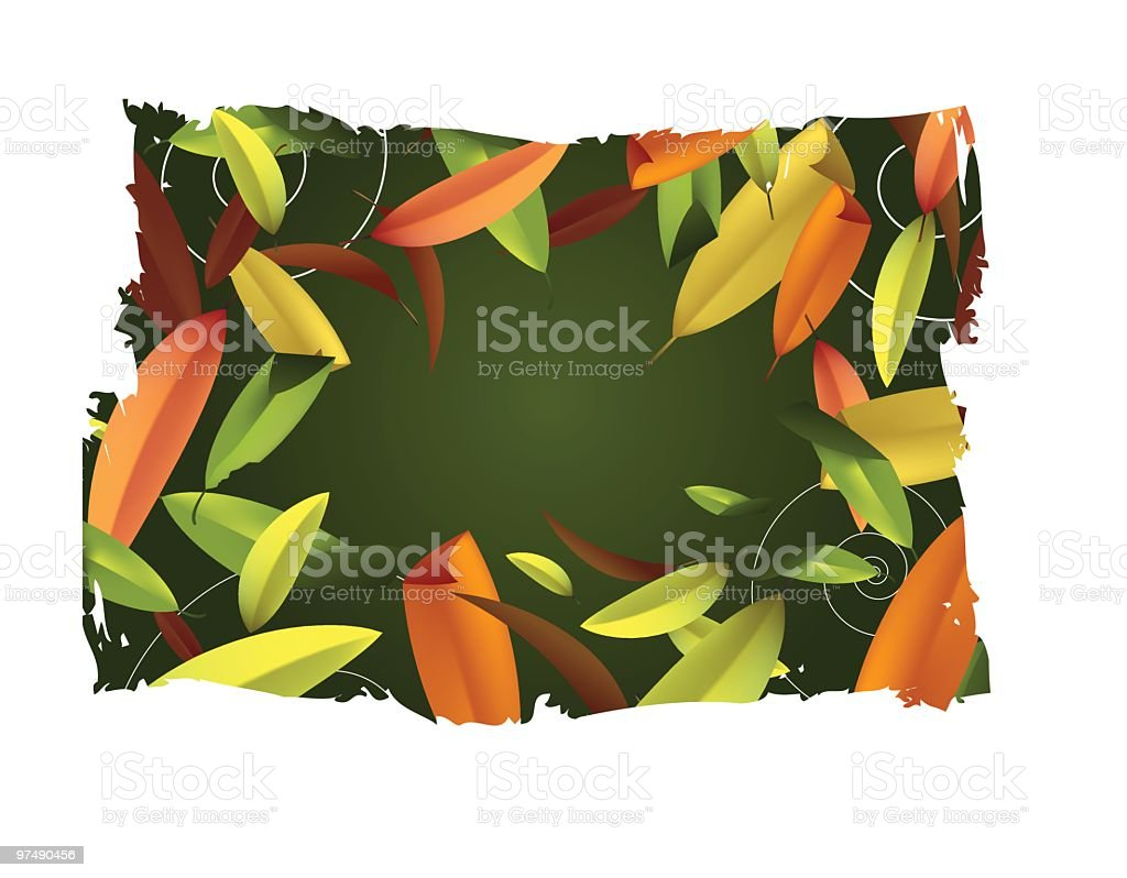 Fall or Autumn leaves background vector art illustration