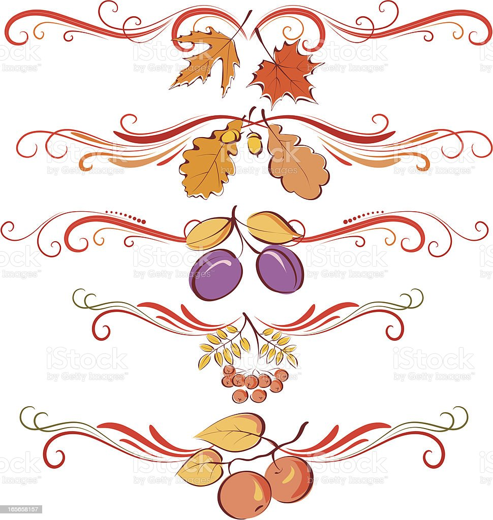 Fall ornaments royalty-free stock vector art