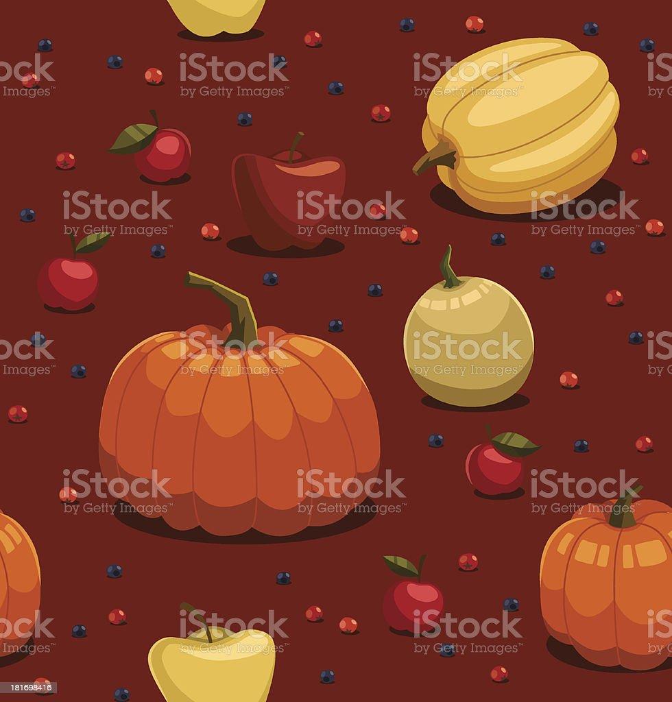 Fall pattern. Vector illustration. royalty-free stock vector art