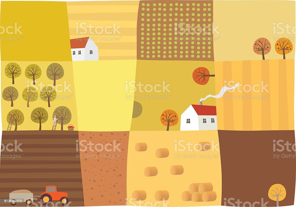 Fall season vector art illustration