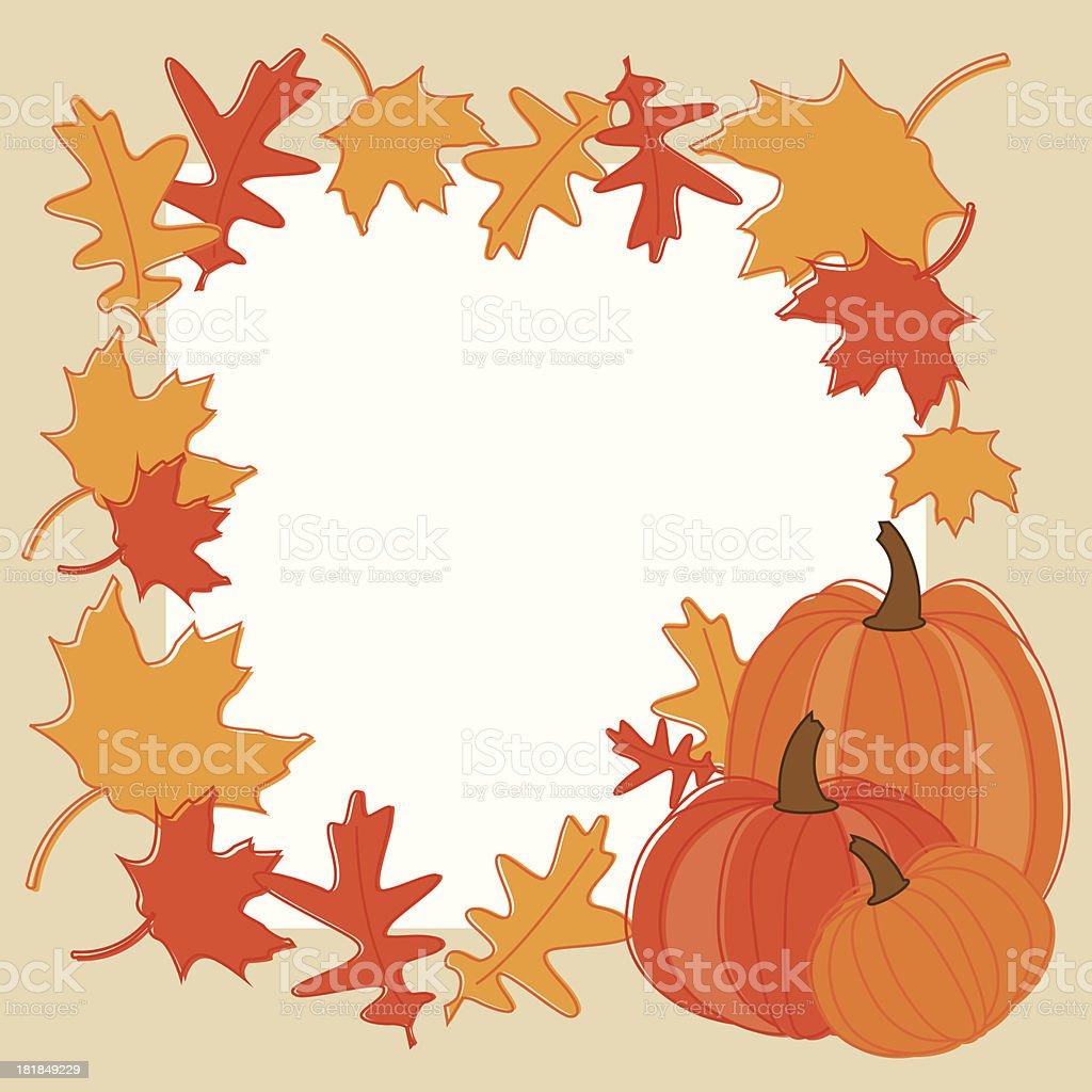 Fall Themed Frame vector art illustration