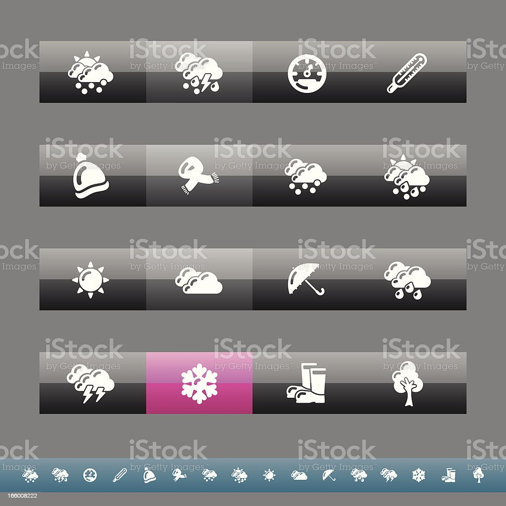 Fall & Winter Icons | Grey And Pink royalty-free stock vector art