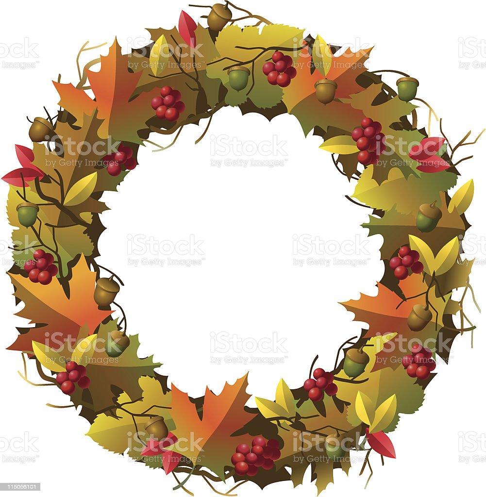 Fall Wreath royalty-free stock vector art