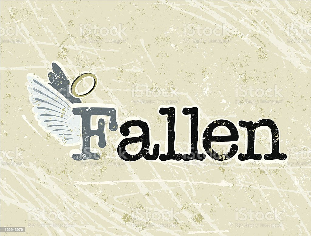 Fallen Angel Text royalty-free stock vector art