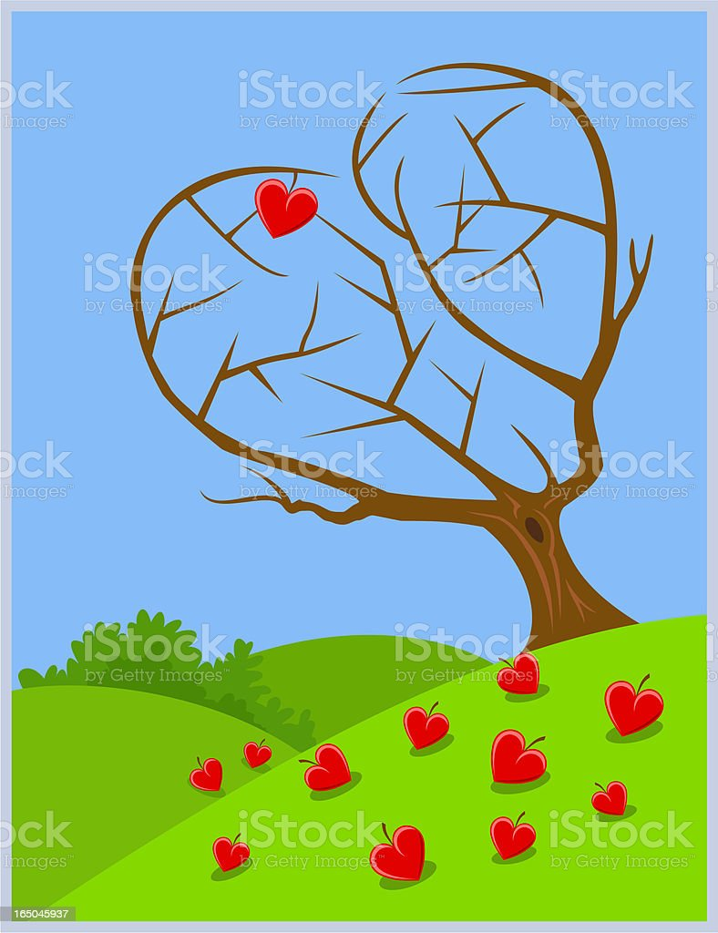 Fallen Hearts royalty-free stock vector art