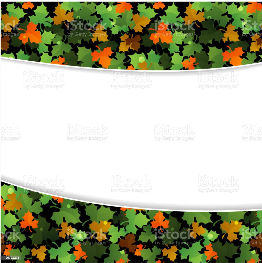 Fallen leaves royalty-free stock vector art