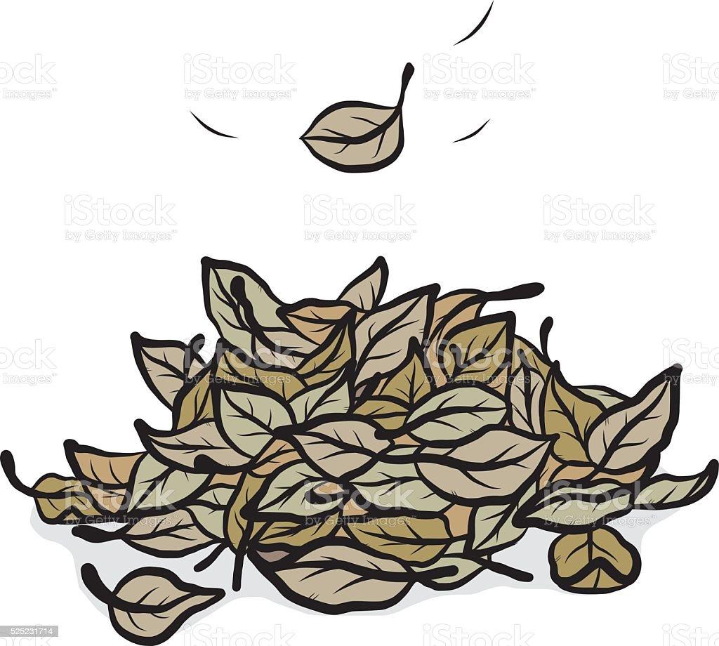 fallen leaves vector art illustration