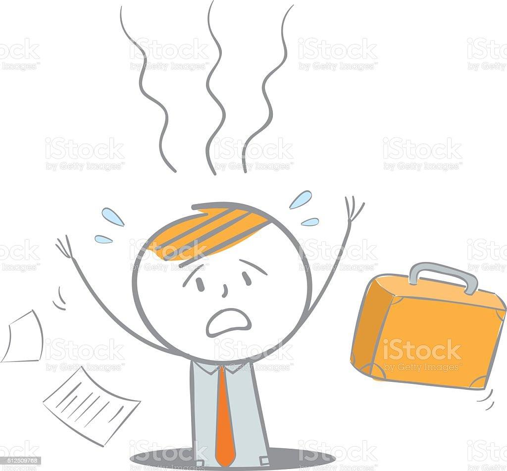 Falling Business Man vector art illustration