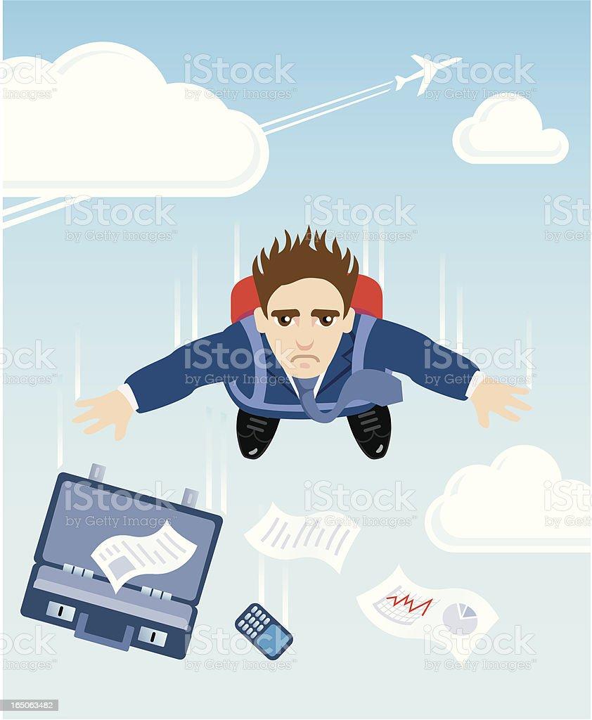 Falling Businessman royalty-free stock vector art