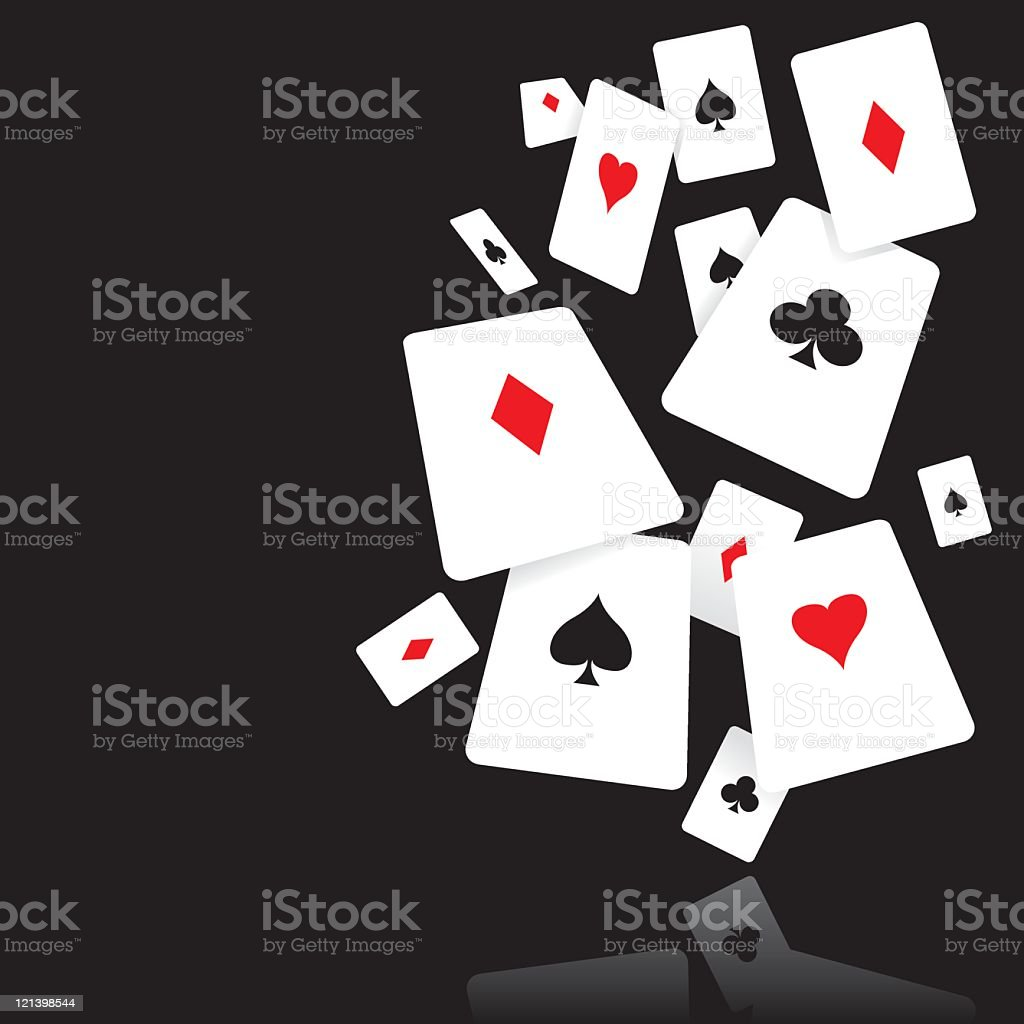 Falling Cards royalty-free stock vector art